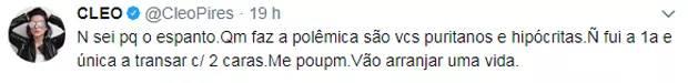Publicação Cleo Pires (Reprodução/Twitter)