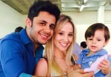 Cristiano Araújo, Elisa Leite e Bernardo (Reprodução/Instagram)