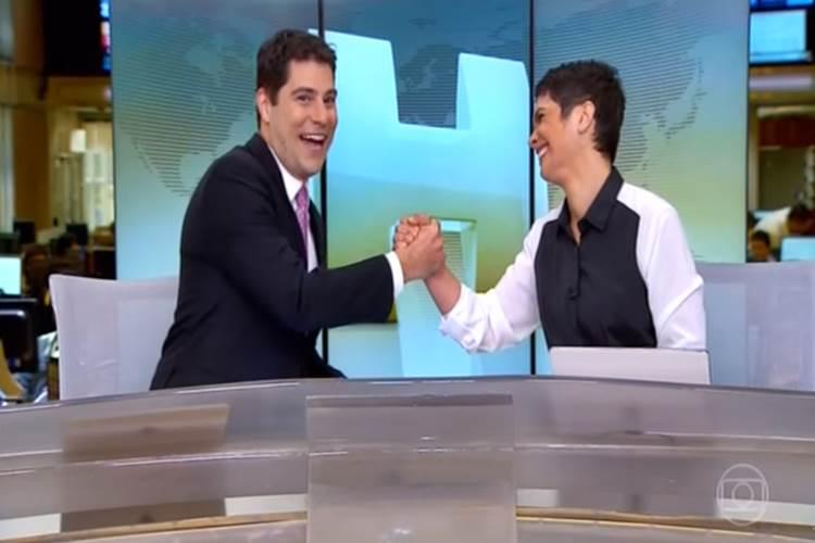 """Evaristo Costa se emociona ao se despedir do """"Jornal Hoje"""" – Veja o vídeo!"""