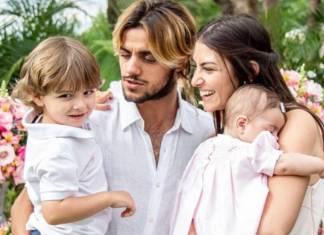 Joaquim, Felipe Simas, Mariana Uhlmann e Maria (Reprodução/Instagram)