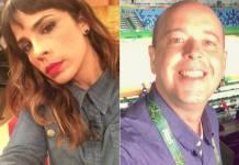 Maria Ribeiro e Alex Escobar (Reprodução/Twitter)