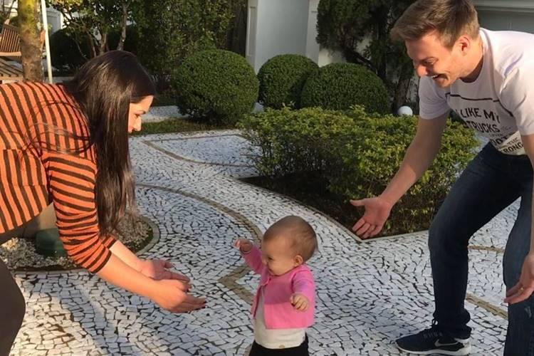 Thais Fersoza, Melinda e Michel Teló (Reprodução/Instagram)
