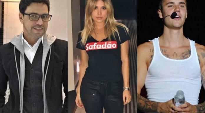 Zezé Di Camargo, Thyane Dantas e Justin Bieber (Reprodução/Instagram)