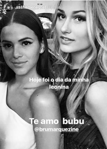 Bruna e Sasha/Instagram