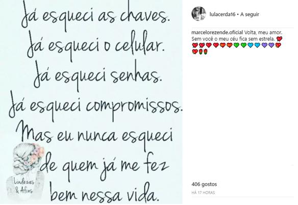 Comentário de Marcelo Rezende (Reprodução/Instagram)