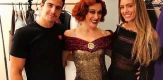 Enzo, Claudia e Victória Grendene (Reprodução/Instagram)