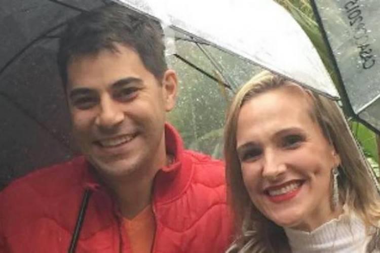 Evaristo Costa e Amália Stringhini (Reprodução/Instagram)