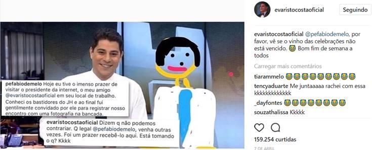 Instagram/Evaristo Costa