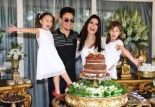 Leandro com a familia (Instagram/Foto:deividicorrea)