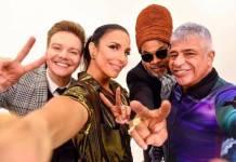 Michel Teló, Ivete Sangalo, Carlinhos Brown e Lulu Santos (Reprodução/Instagram)