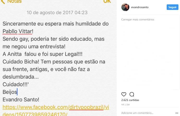 Post - Evandro/Instagram
