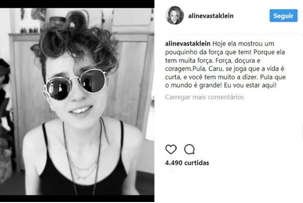 Publicação de Aline Klein (Reprodução/Instagram)