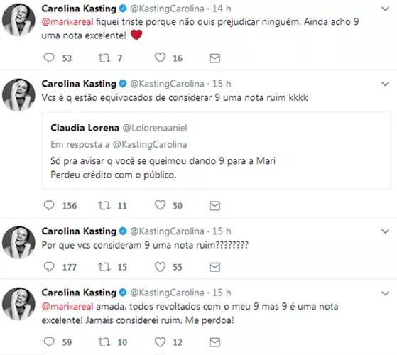Publicações Carolina Kasting (Reprodução/Instagram)