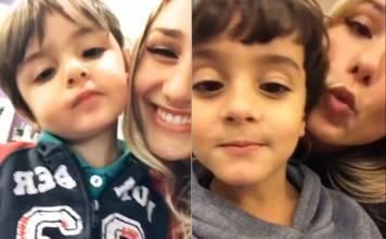 Sasha Meneghel e os irmãos (Reprodução/Instagram Stories)