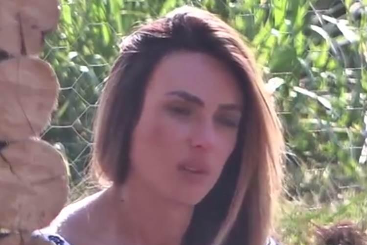 A Fazenda - Nicole chorando (Reprodução/Record TV)