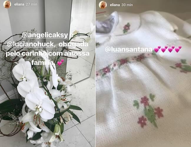 Eliana posta a primeira foto com a filha em casa: 'Na paz'