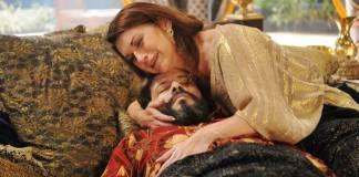 O Rico e Lázaro - Amitis chora a morte de Nabucodonosor (Munir Chatack/Record TV)