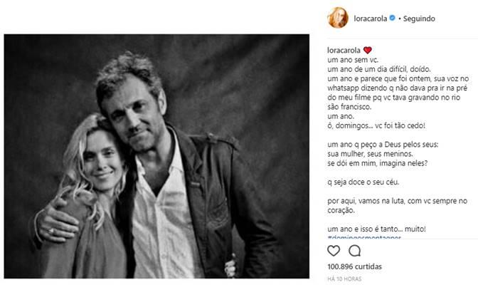 Publicação de Carolina Dieckmann (Reprodução/Instagram)