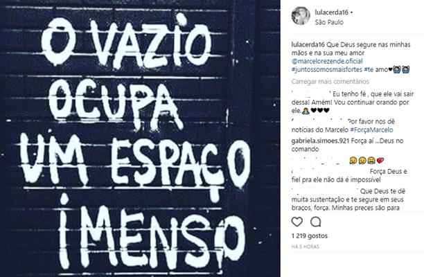 Publicação de Luciana Lacerda (Reprodução/Instagram)