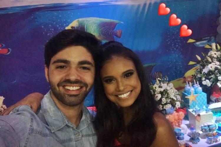 Rafael Cupello e Aline Dias (Reprodução/Instagram Stories)