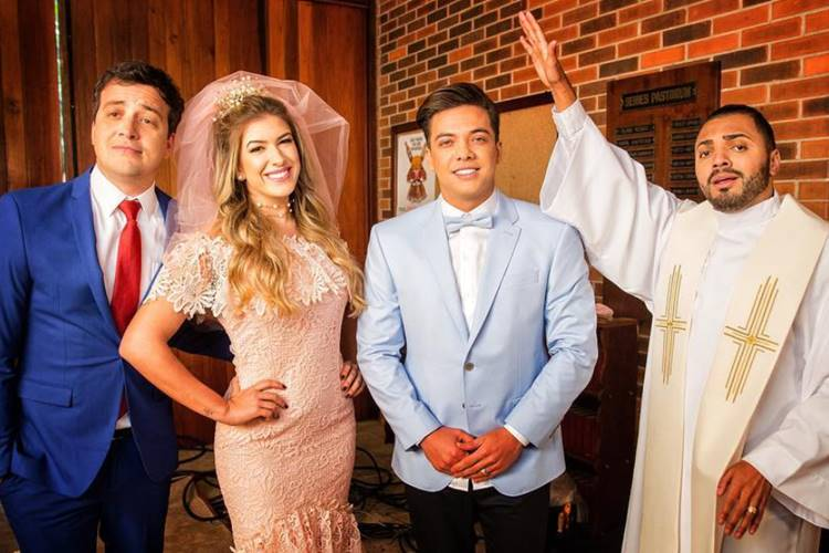 Rafael Cortez, Lore Improta, Wesley Safadão e Tirulipa (Reprodução/Instagram)