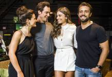 Bianca Bin, Sergio Guizé, Grazi Massafera e Rafael Cardoso (Globo/João Miguel Júnior)