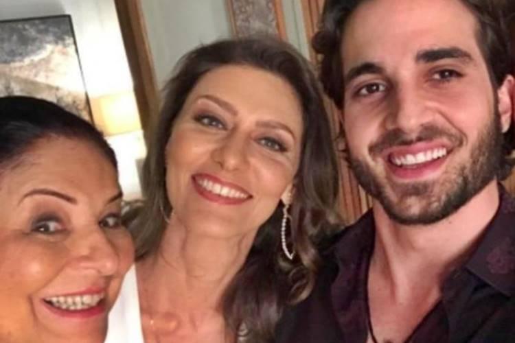Claudia Mello, Maria Fernanda Cândido e Fiuk (Reprodução/Instagram)