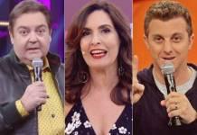 Fausto Silva, Fátima Bernardes e Luciano Huck (Reprodução/TV Globo)