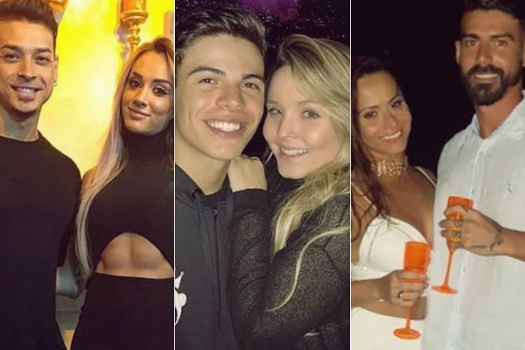 Felipe Franco, Juju Salimeni, Thomaz Costa, Larissa Manoela, Viviane Araújo e Radames Martins (Reprodução/Instagram)