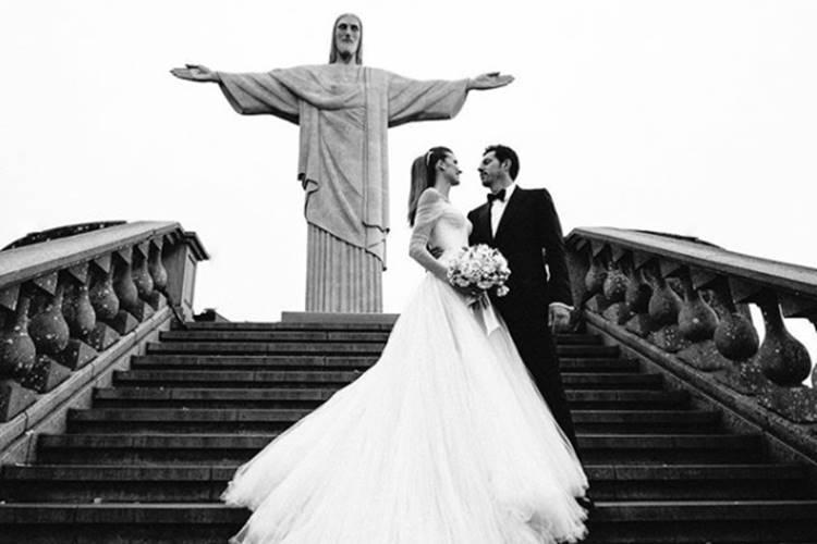 Guy Oseary e Michelle Alves (Reprodução/Instagram)