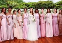 Marina Ruy Barbosa e suas madrinhas de casamento (Reprodução/Instagram)