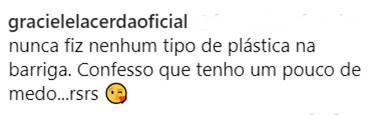 Post - Graciele/Instagram
