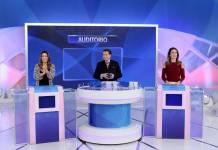 Silvio Santos com as filhas (Lourival Ribeiro/SBT)
