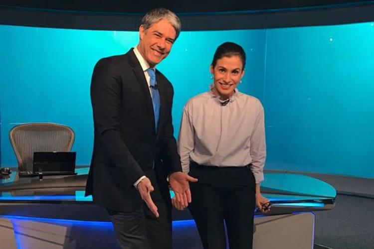 William Bonner e Renata Vasconcelos (Reprodução/Twitter)