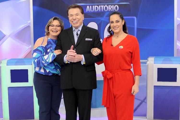 Cintia Abravanel - Silvio Santos - Silvia Abravanel (Lourival Ribeiro/SBT)