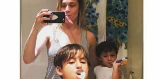 Fernanda Gentil, Lucas e Gabriel (Reprodução/Instagram)