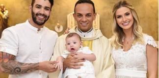 Gusttavo Lima, Padre Marcos, Gabriel e Andressa Suita (Reprodução/Instagram)