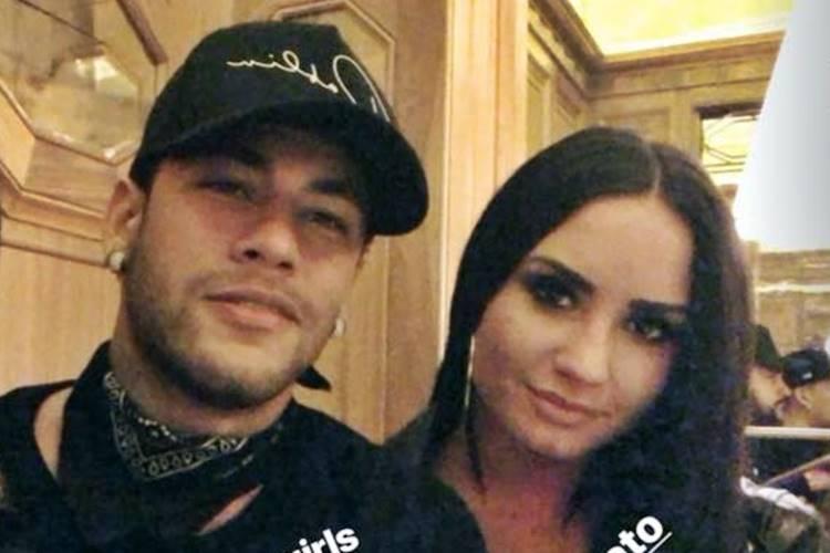 Neymar e Demi Lovato (Reprodução/Instagram Stories)