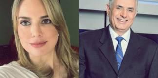 Rachel Sheherazade e William Waack (Reprodução/Facebook e TV Globo)