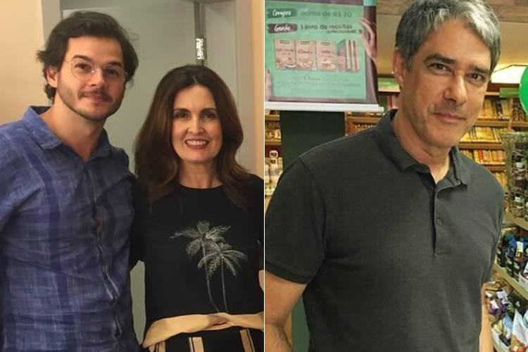 Tulio Gadêlha, Fátima Bernardes e William Bonner (Reprodução/Instagram)
