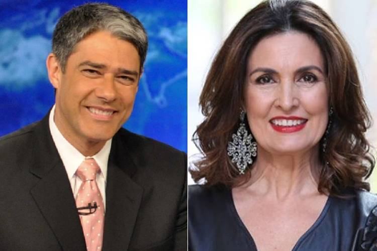 William Bonner e Fátima Bernardes (Reprodução/TV Globo e Instagram)