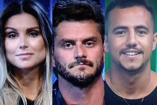 A Fazenda - Flavia - Marcos - Matheus (Reprodução/Record TV)