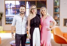 Marcos com a esposa Lu - Eliana (Gabriel Cardoso/SBT)