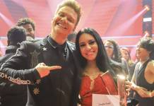 Michel Teló e Samantha Ayara (Globo/Paulo Belote)