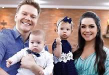 Michel Teló, Teodoro, Melinda e Thais Fersoza (Reprodução/Instagram)