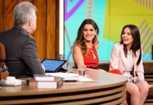 Pedro Bial entrevista Ingrid Guimarães e Larissa Manoela (Globo/Ramón Vasconcelos)