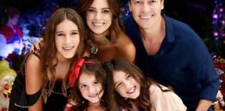 Rodrigo Faro e Vera Viel com as filhas (Reprodução/Instagram/mariavielfaro)