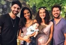 Aline Dias com o filho e o marido - Débora e Loreto/Instagram
