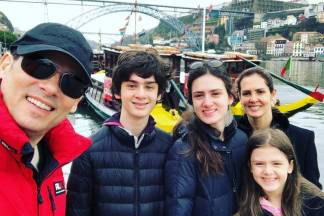 Celso Portiolli com a família/Instagram