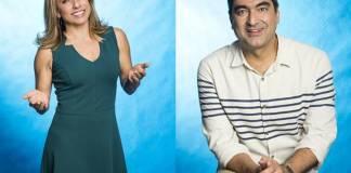 Cissa Guimarães e Zeca Camargo (Globo/João Miguel Júnior)